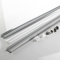 DHL 40 100 set/lot 0.5m 12mm strip led aluminium profile for led bar light, led aluminum channel flat aluminum housing