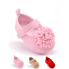 3Colors Lovely Toddler Newborn Baby Girl Soft Sole Flower Prewalker Crib Shoes 0-18M