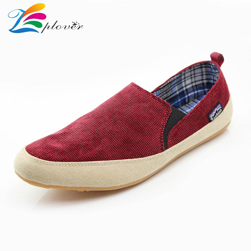 Zplover 2016 Summer Canvas Shoes Low Breathable Canvas Shoes For Men Casual Shoes Comfortable Flat Shoes Men Loafers