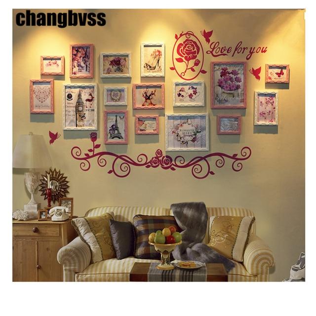 16pcs/set European Style Wooden Frames for Home decor DIY Wall ...