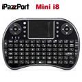 Envío libre de dhl 20 unids/lote ipazzport 2.4g mini teclado sin hilos i8 con el touchpad y el ratón del aire para tv box mejor calidad teclados