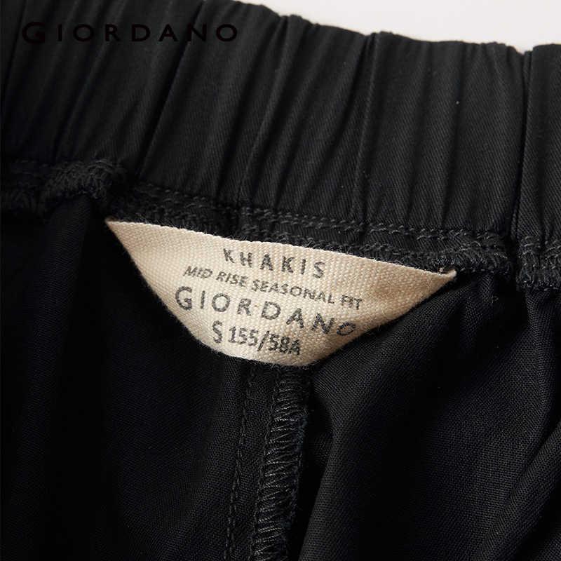 ジョルダーノ女性パンツ女性のための弾性ウエストバンドのズボン女性ズボン無地 Pantalones Mujer カジュアルカルカ Feminina