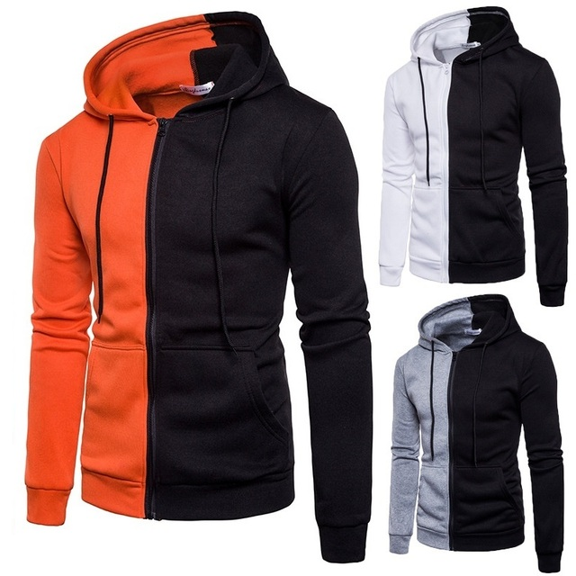 2020 Brand Sweatshirt Men Hoodies Autumn Spring streetwear Sweat Homme hood Men Patchwork Hoodies Sweatshirt Jacket Pullovers