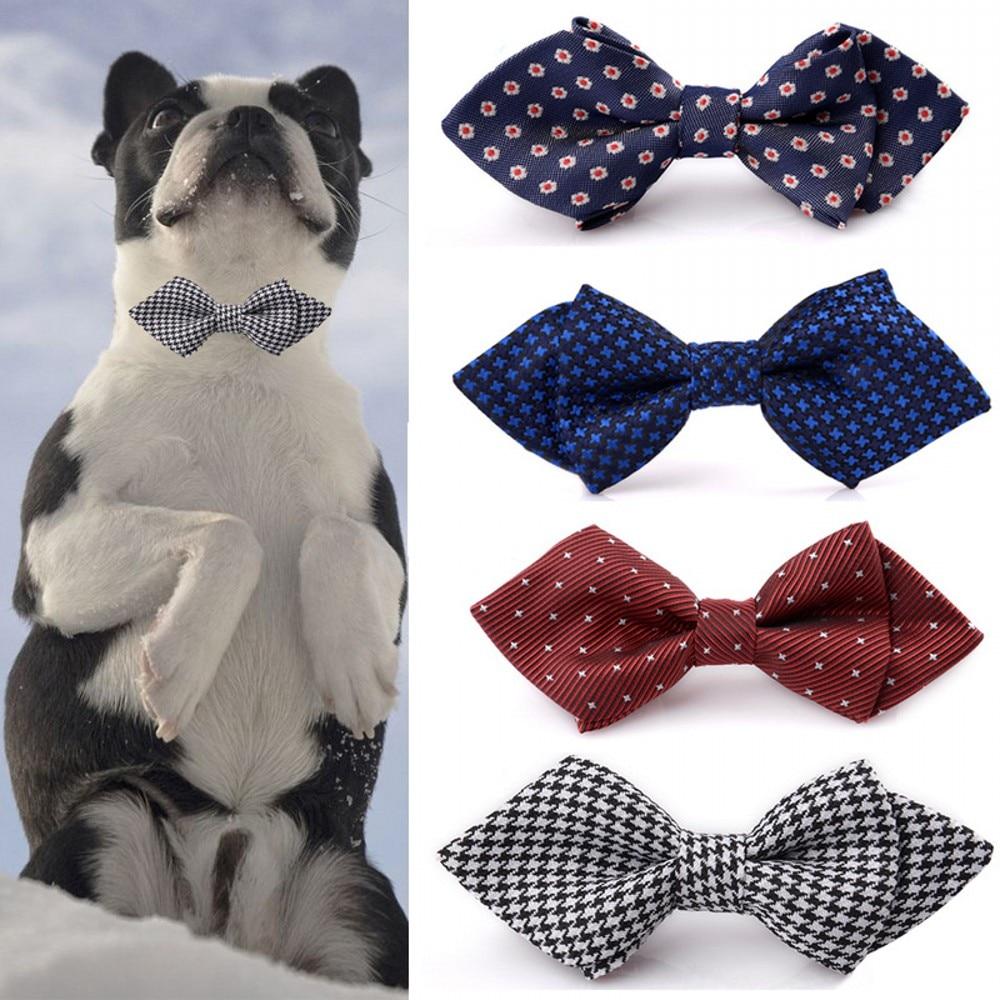 12 Color Puppy Cat Bow Tie Adjustable Collar Dog Suit Tie Large Size Scarf Tie Bowtie