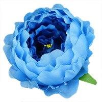 20pcs Simulation Peony Heads DIY Silk Flower Head For Wedding Party Blue