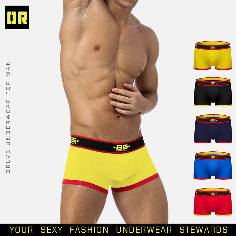 BS Brand Boxer Sexy Underwear Men Gay Men Bikini Slip Homme Hombre Man Pouch Underwear Male Fashion Man 2019 Underpants BS176