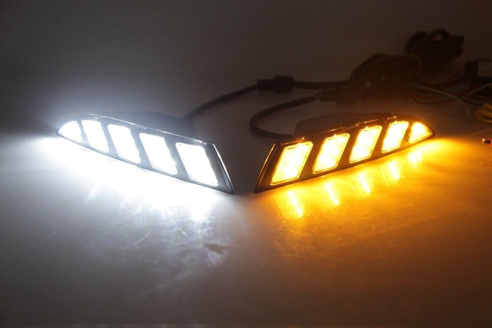 EOsuns LED движущийся сигнал поворота + DRL дневные ходовые огни для VW Scirocco 2011 2015 ковчег зернистая крышка без уничтожения