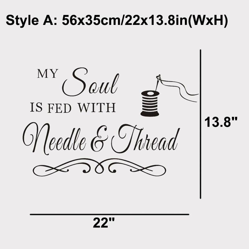 Costura Craft Room Soul NeedleThread ... Diciendo calcomanías de - Decoración del hogar - foto 3