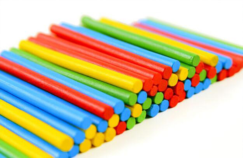 Colorful Bamboo Counting Sticks Clock Toy Mathematics Montessori Teaching Aids Counting Rod Kids Preschool Math Learning Toy GYH 3