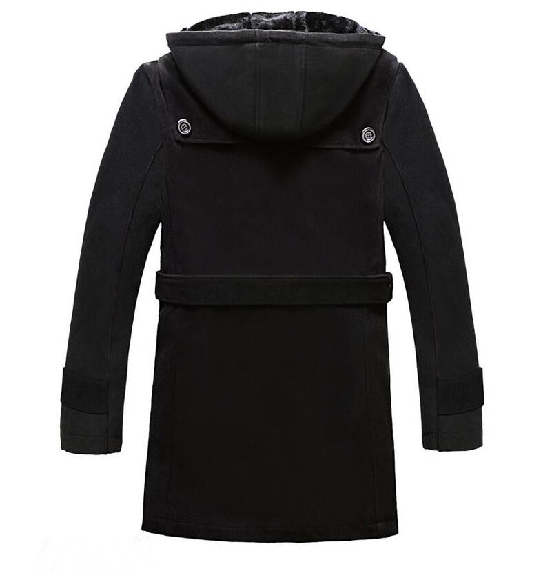 Noir Plus Coupe Manteau Mode Poitrine Casual Pour Veste À Tranchée 2017 Manteaux vent gris Hiver Hommes Long Unique La Taille Capuchon Bussiness 4xl qq61pr