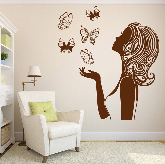 Aliexpresscom Buy New Design Butterflies Sexy Girl Silhouette - Vinyl stickers designaliexpresscombuy eyes new design vinyl wall stickers eye wall