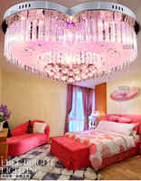 7 Colour 30w LED K9 Crystal Droplight 4 Light Bedroom Lamps And Lanterns Is Contemporary And
