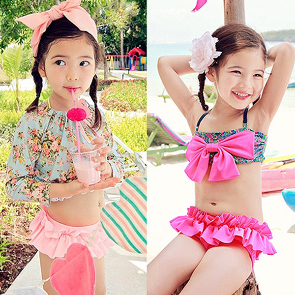 d4e92c526d KIDS SWIMWEAR FLORAL DEEP LIGHT COLOR THREE PIECES HOT SALE GIRLS SWIMSUIT  FOR CHIRDREN WEAR BIKINI