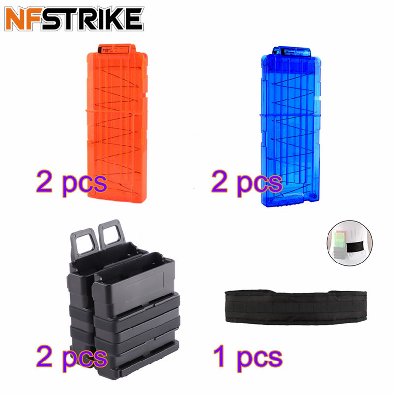 High End Waist Fittings Set For Nerf Party 12 Bullets Ammo Cartridge Dart For Nerf Bullet Clips+Black Belt +Quick Pull Box new 30 50 cal metal ammo can military and army m19a1 all metal box for long term storage by solid tactical bullet box ammo case