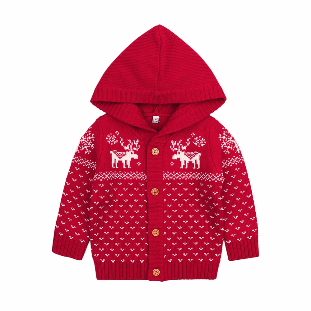 baby cardigans for newborn baby girl christmas jackets reindeer knit toddler boys sweaters coats autumn winter children costumes in jackets coats from - Christmas Jackets