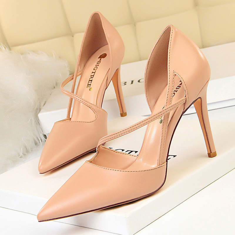 2019 New Women Pumps Fashion  High Heels Sexy Women Shoes For Spring Summer Stiletto Heel Sandals Sapato Feminino  830-1