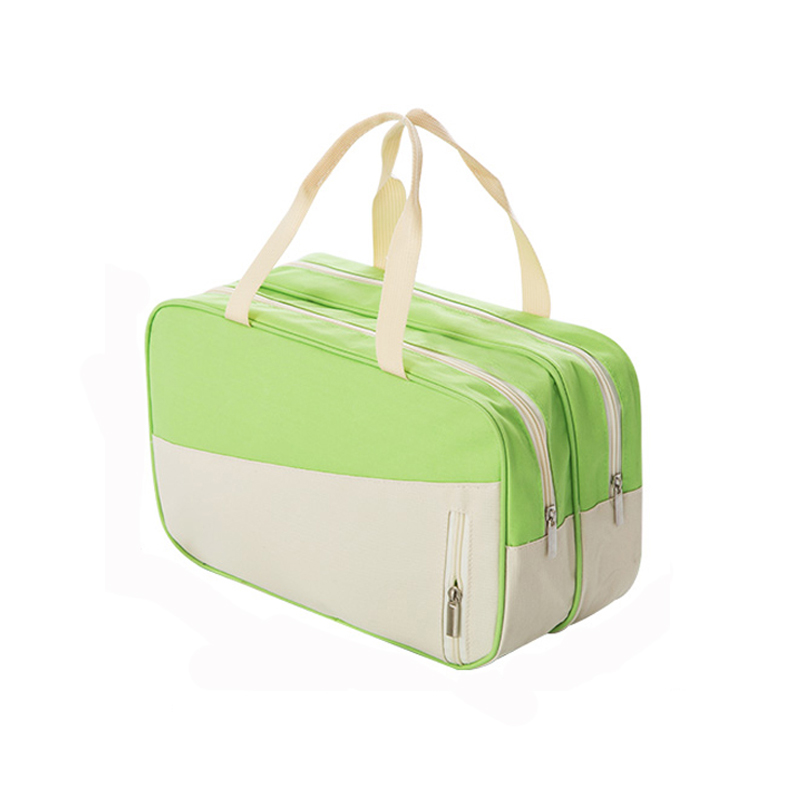 Double Zipper Cosmetic Bag Waterproof Multifunction Travel Storage Bags Dry Wet Pouch Large Capacity Toiletry Case
