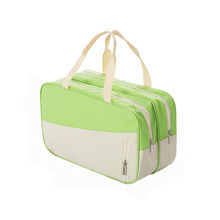 Double Zipper Cosmetic Bag Waterproof  Multifunction Travel Storage Bags Dry&Wet Pouch Large Capacity Toiletry Case High Quality