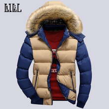 Men's Winter Warm Down Jackets And Coats Men Windproof Thick Veste Man Breathable Cotton-Padded Casual Bomber Jacket 4XL,UMA271