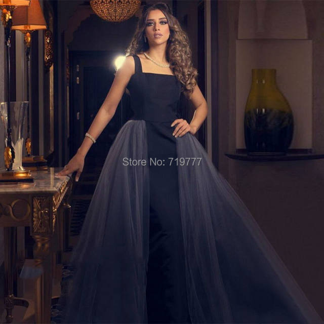 Lebanon-Formal-Evening-Party-Dress-Black-Straight-Prom-Dresses-Detachable-Gray-Long-Train-Robe-De-Soiree