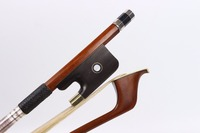 1 pcs Double Bass Bow 3/4 German Style brazil wood Straight High quality #R109