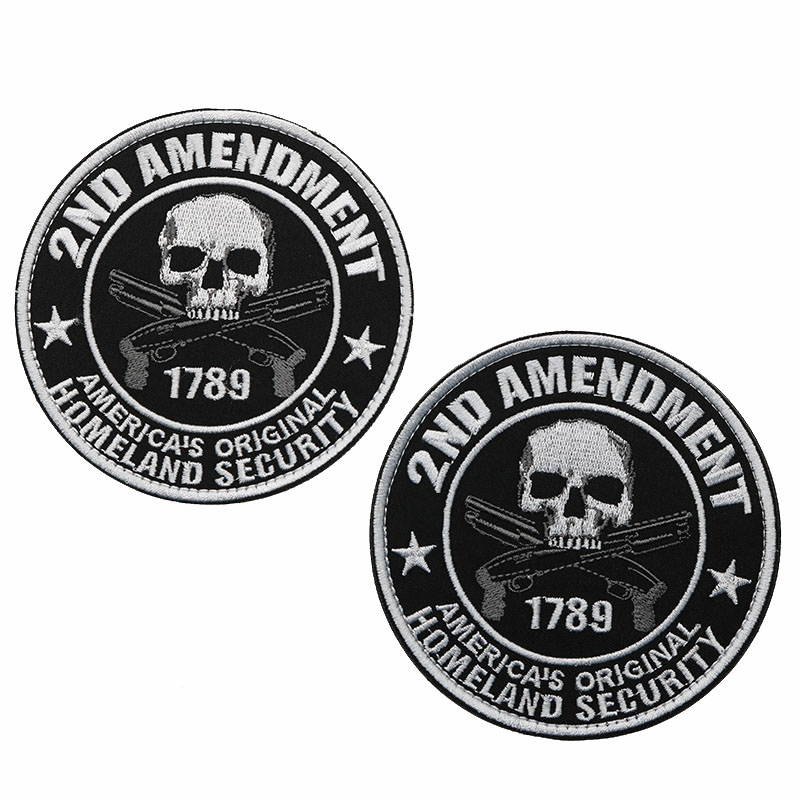 "2nd AMENDMENT Americas Homeland Security Embroidered 3/"" Patch Biker Gun Tactical"