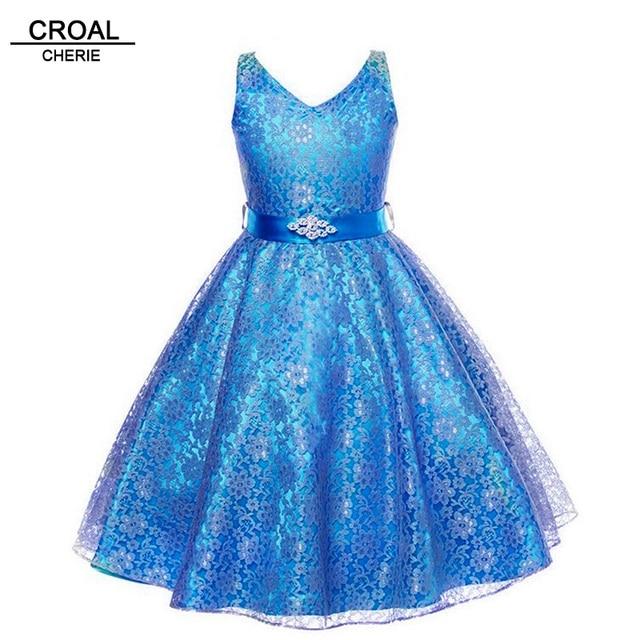 fca9df556bb Модные кружевные платья для девочек 10 лет 100-160 см нарядные платья для  вечеринок и