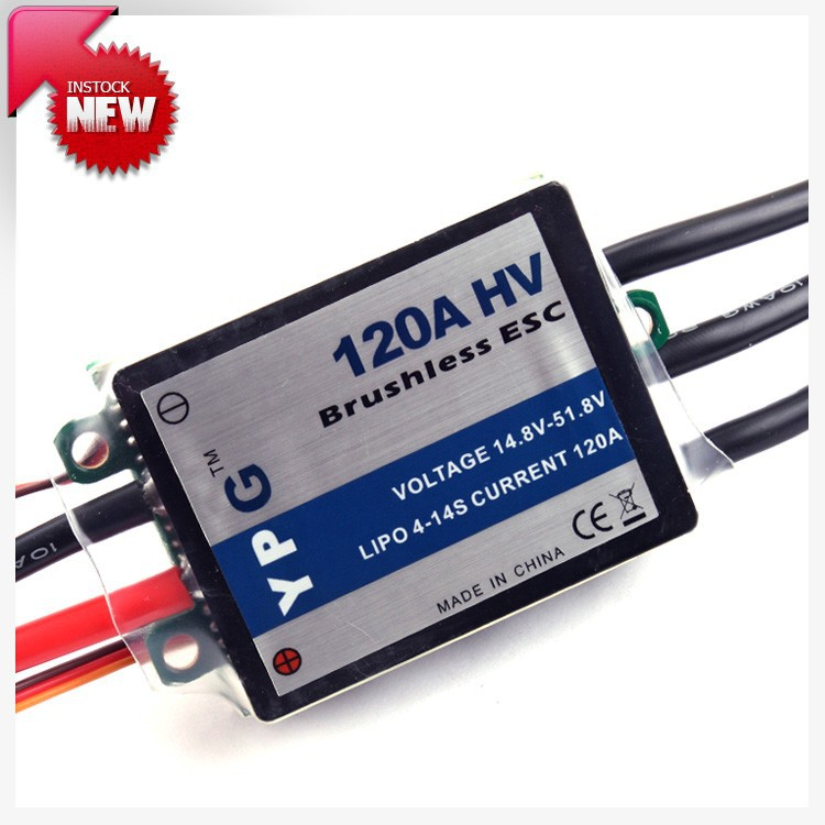 YPG HV 120A ESC (4~14S) SBEC Brushless Speed Controller For Trex 700 Helicopter Free Shipping free shipping feike da skyrc toro 8s 150a model car brushless esc electronic speed control