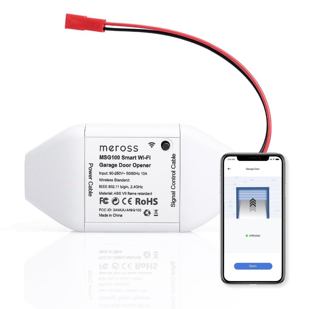 meross Smart Wi Fi Garage Door Opener EU APP Control Compatible with Alexa Google Assistant and