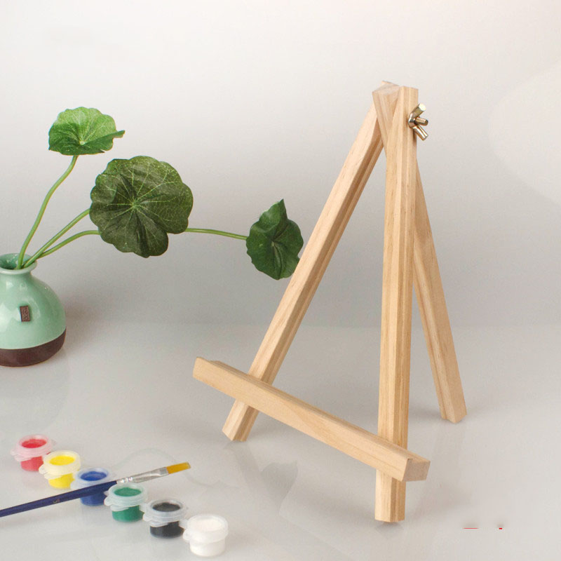 10pcs/Set 15*9cm Mini Artist Wooden Easel Wood Wedding Table for Party Decoration Card Stand Display Holder