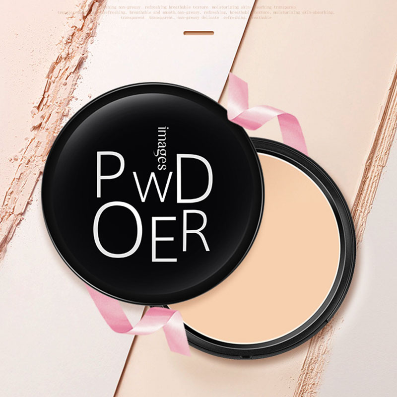 Images Pressed Powder Long Lasting Oil Control Face Foundation Waterproof Whitening Skin Finish Concealer image
