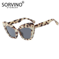 219139d1c8 SORVINO Retro 90s Large Tortoiseshell Cat Eye Sunglasses 2018 Women  Designer Oversized Butterfly Sun Glasses Big