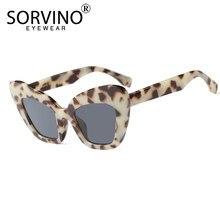 d16c9ad78e SORVINO Retro 90 s grande écaille de tortue lunettes de soleil yeux de chat  2018 femmes Designer surdimensionné papillon lunette.