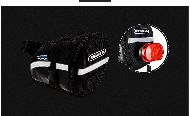 ROSWHEEL 1.2L Portable Waterproof Bike Saddle Bag Cycling Seat Pouch Bicycle Tail bags Rear Pannier Cycling equipment 21