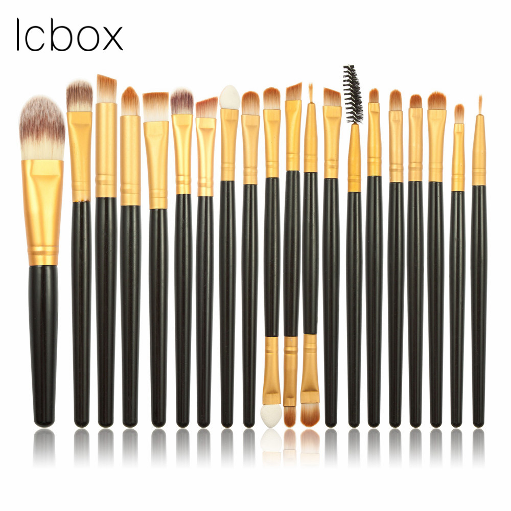 LCBOX Pro 20Pcs Eye Shadow Foundation Eyebrow Eyeliner Eyelash Lip Brush Makeup Brushes Cosmetic Tool Make Up Eye Brush Set pro 20pcs set make up styling tools cosmetic eyeliner eyebrow lipsticks shadow wood pincel makeup blushes kit cosmetics pinceaux