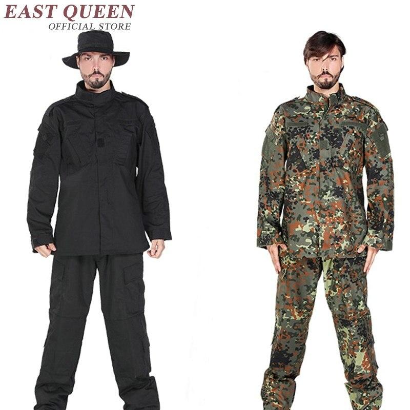 Chasse Vêtements Costumes de Camouflage En Plein Air Militaire Tactique Uniforme Armée Formation Uniforme Pour Airsoft Jeux AA2400 YQ