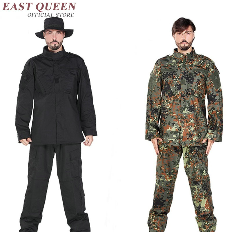 Vêtements de chasse Camouflage costumes en plein air militaire tactique uniforme de formation de l'armée uniforme pour les jeux Airsoft AA2400 YQ