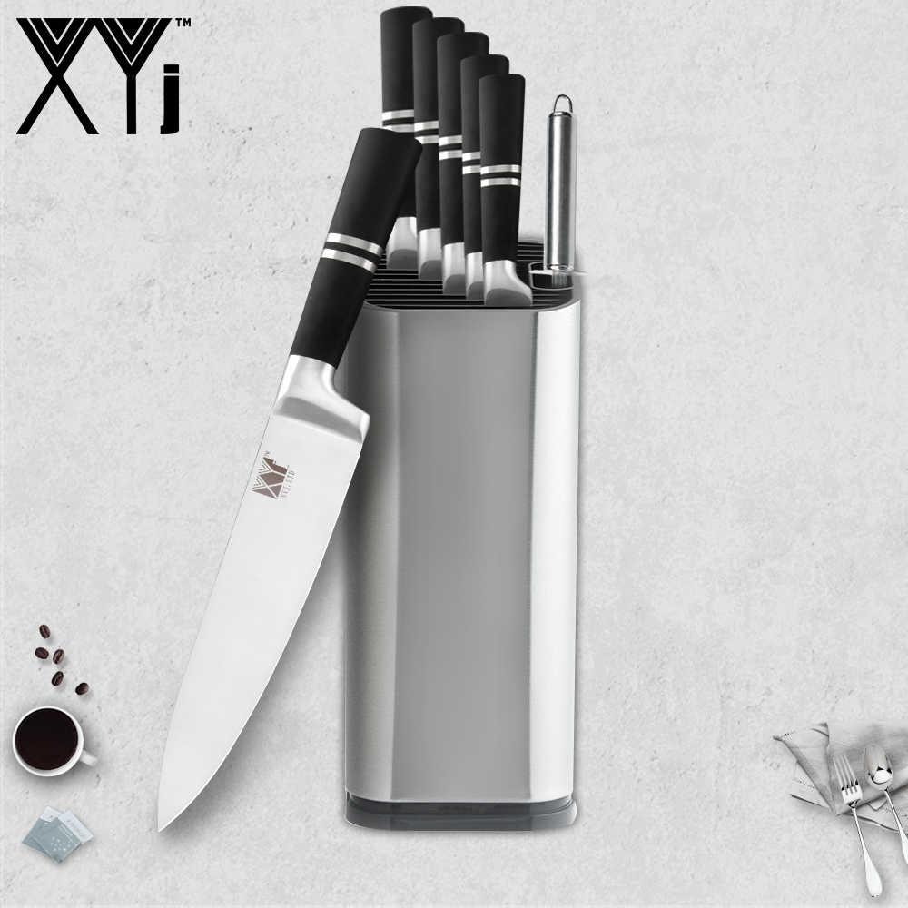 XYj  Japanese Stainless Steel Kitchen Knife Fruit Paring Utility Santoku Chef Slicing Bread Chef Knives Holder Sharpener Bar