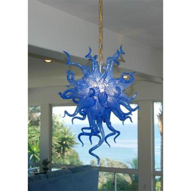 Ocean Style Blue N Glass Chandelier Lightings Indioor Hanging Lamps