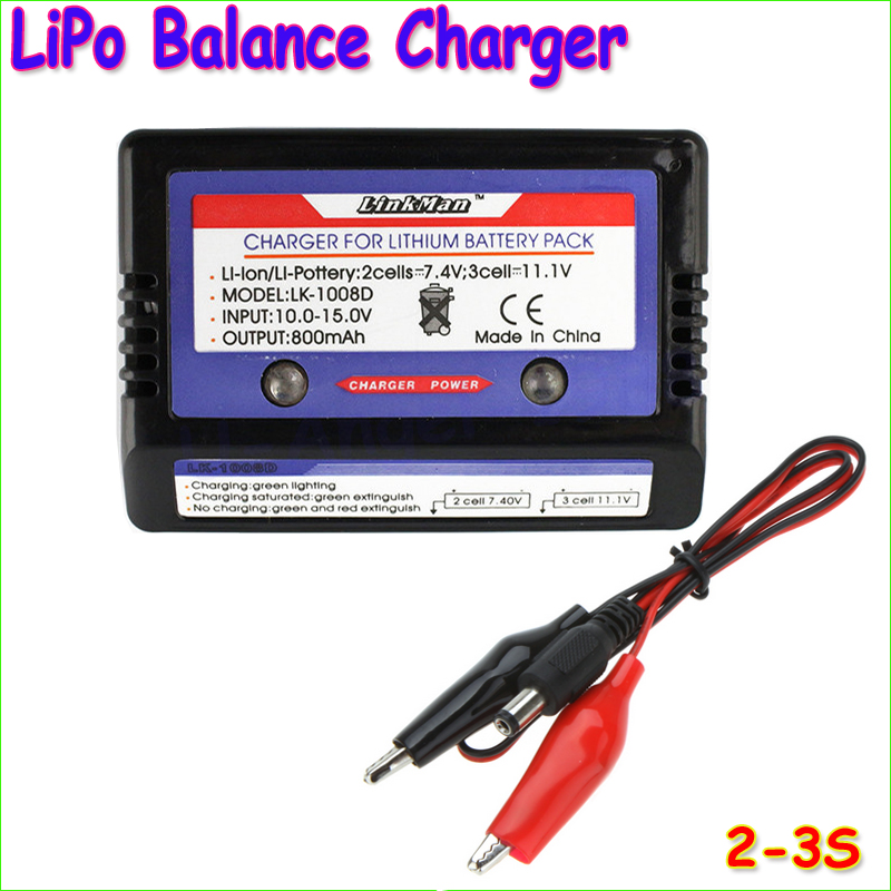 Wholesale 1pcs 7.4v 11.1v LiPo RC Battery AKKU Balance Charger 2s 3s 2-3S 2 CELL