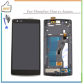 Black for One Plus One for One Plus 1+ For Oneplus One 1 LCD Display Touch Screen Digitizer Assembly+Frame +Tools free shipping