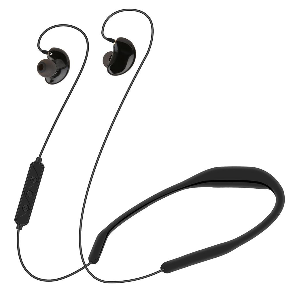 Sports Hanging Neck Type 4.2 Bluetooth Headset Tape Waterproof Bluetooth Noise Reduction Headphones With Microphone