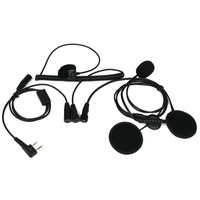 New 2 Pin Finger PTT Motorcycle Helmet Headset Microphone For Kenwood BAOFENG Retevis WOUXUN TYT Two