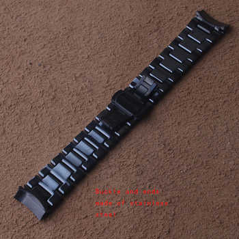 22mm Watchband for Samsung Gear S3 Galaxy Watch 46mm ceramic and stainless steel Strap Butterfly Buckle Band Wrist Bracelet new