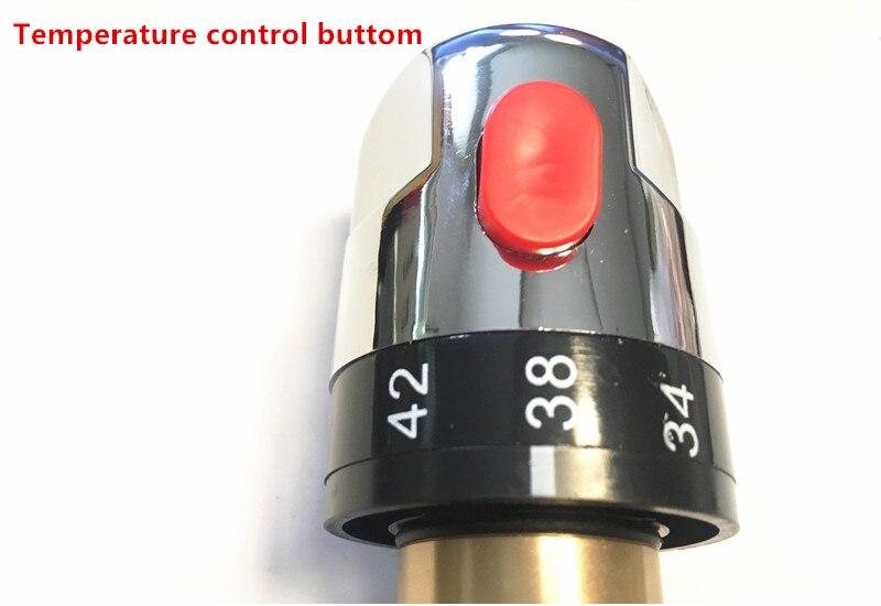 Высокого качества Туалет бидец разбрызгиватель мыть попу PP вагинальный анус чистящее сопло с термостатический смеситель с лампой BSS21