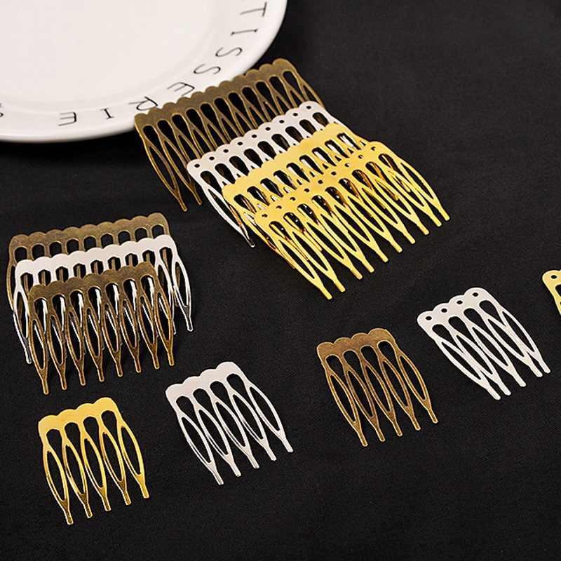 5 יח'\חבילה 5 שיניים 10 שיניים שיער קומבס שיער אביזרי הכלה סיכות קליפים כיסוי ראש DIY תכשיטי Makeing חתונה שיער תכשיטים