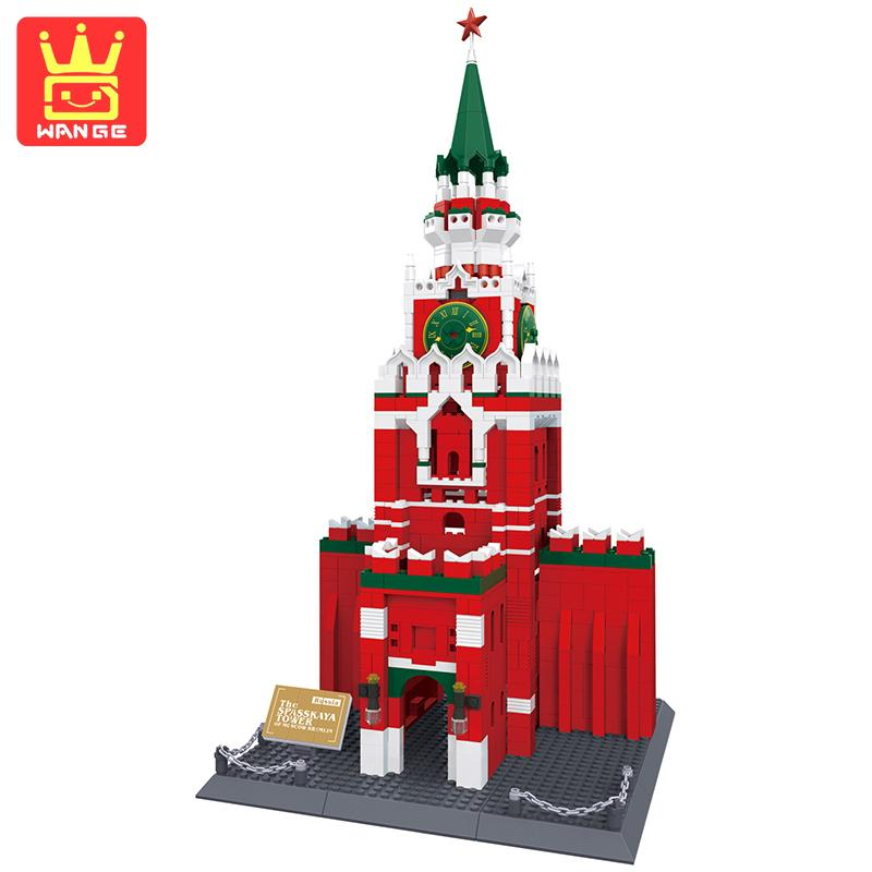 WANGE Kremlin Action Figure Building Bricks Sets Model Kits 1048 Pcs Educational Toys For Children Birthday Gift wange city fire emergency truck action model building block sets bricks 567pcs classic educational toys gifts for children