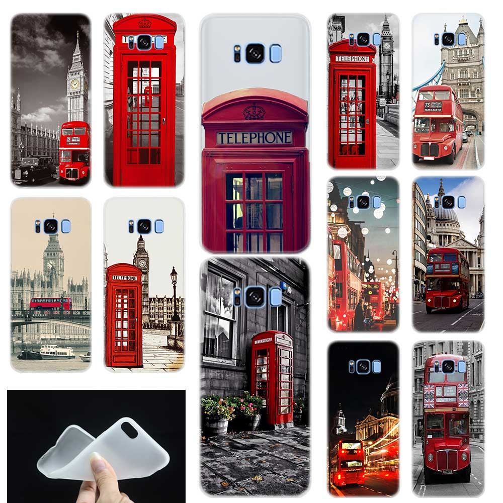 London Bus England Telephone Silicone Phone Back Case Cover For Samsung Galaxy S6 S7 Edge S8 S9 Plus S10 E Note 8 9
