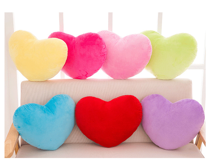 Heart Shape Throw Pillow Cushion Stuffed Plush Doll Toy Gift Sofa Cushion Throw Pillow Decorative Cushion Wedding Decoration