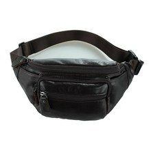 100% Guaranteed genuine Leather men waist bag fanny pack cow leather belt bag waist packs money belt waist pouch #VP-J7218